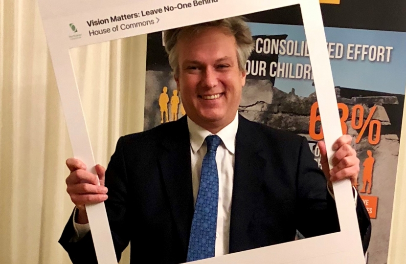 Henry Smith MP welcomes Crawley Charity Vision Aid Overseas to Parliament