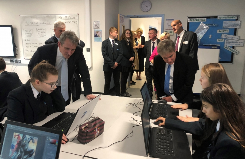 Henry Smith MP welcomes Education Secretary to Crawley