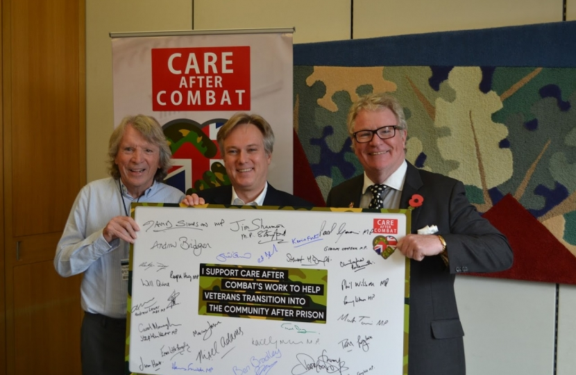 Henry Smith MP pledges Support to Help Veterans Re-transition into Society after Prison