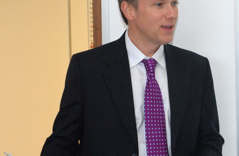 Henry Smith MP urges Crawley Charities to apply for up to £20,000 of Funding