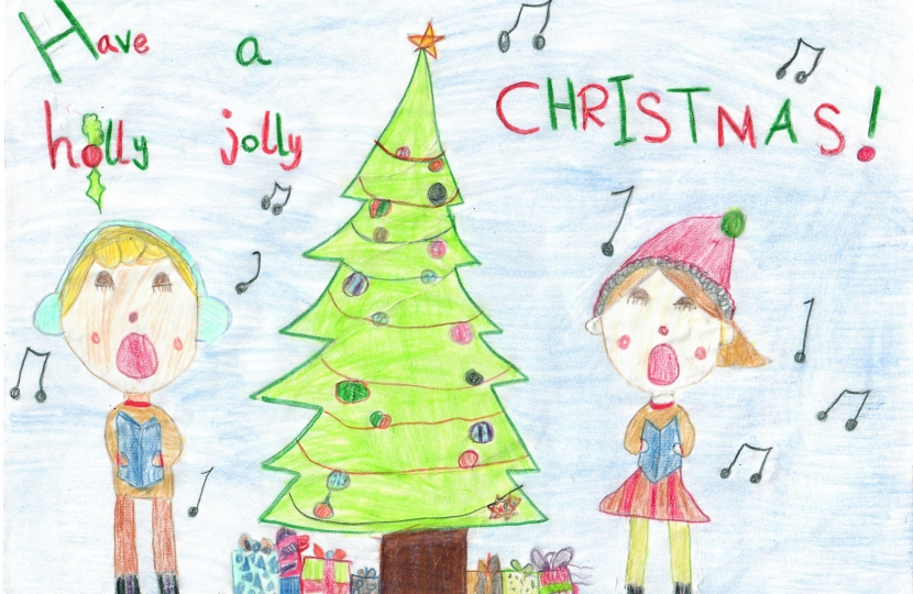 Crawley MP Congratulates 2019 Christmas Card Competition Champion