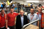 Henry Smith MP thanks Crawley Postmen and Women Delivering a First Class Christmas